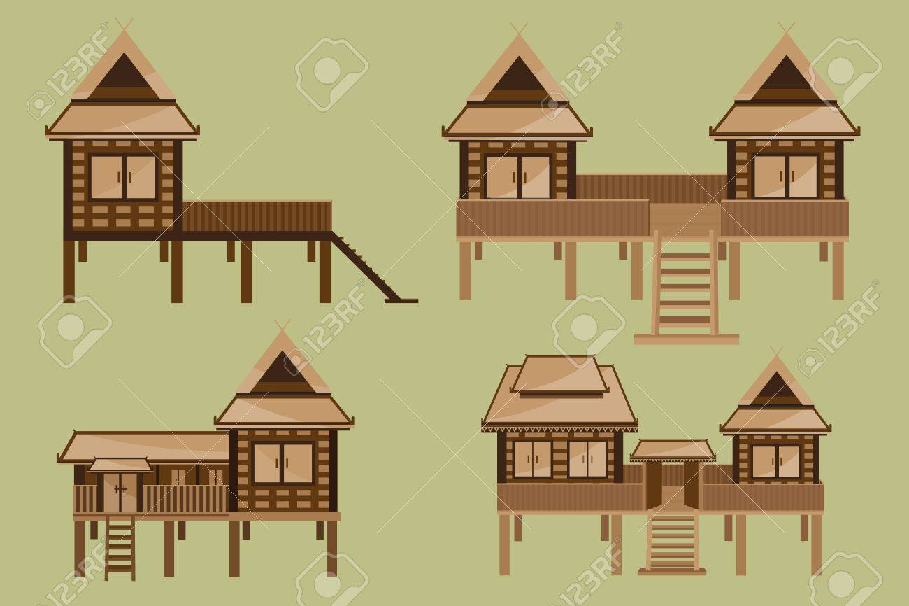 Thai House Design Royalty Free Cliparts, Vectors, And Stock ...
