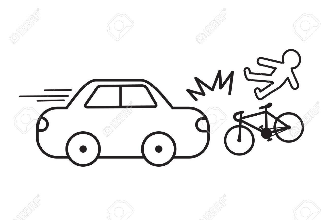 Car Crash Bicycle Easy Design