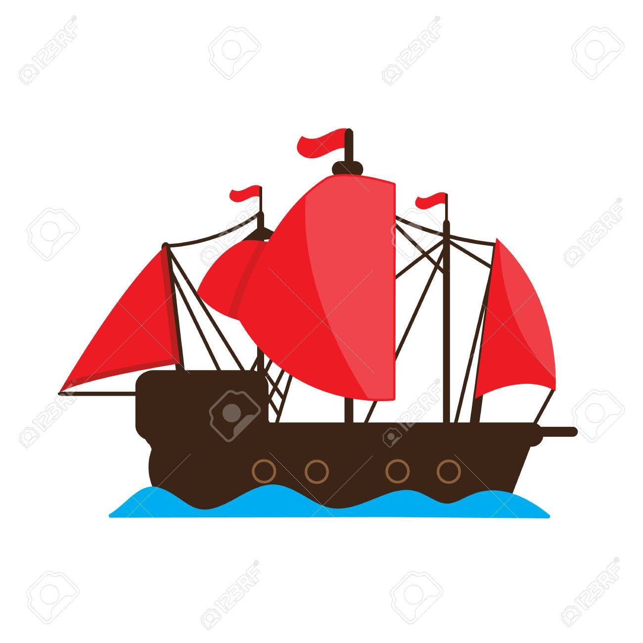 chinese junk ship vector cartoon design royalty free cliparts rh 123rf com ship victoria reed ship victory