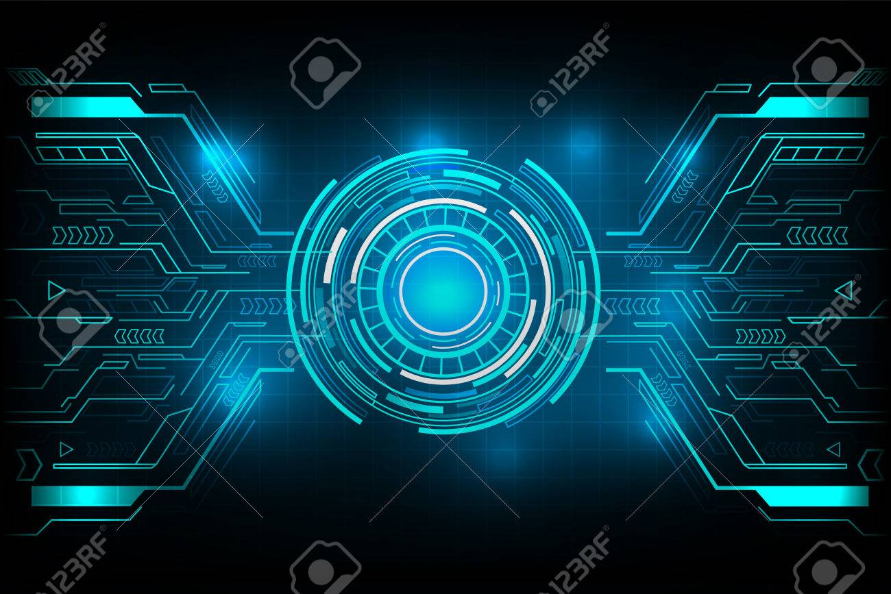 circle futuristic technology vector design royalty free cliparts