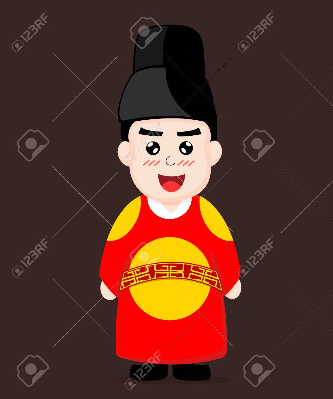 Korean King Dress cartoon