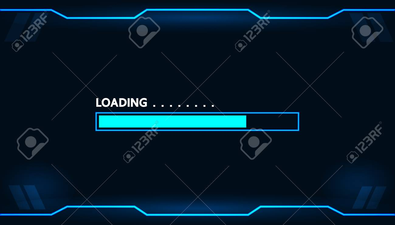 Game loading on monitor technology concept design. - 86695224