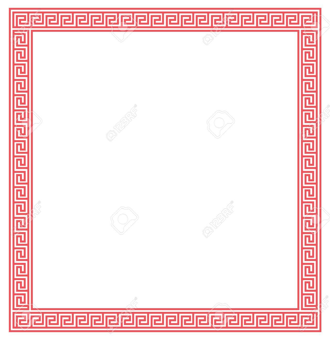 Chinesischer Roter Rahmen Auf Weißem Hintergrund. Vektor-Design ...