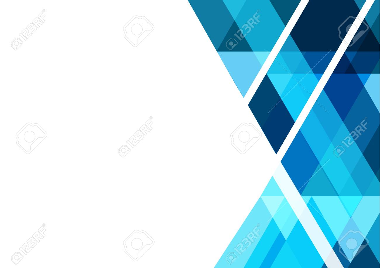 Blue Geometric Abstract Vector Background Design For Business