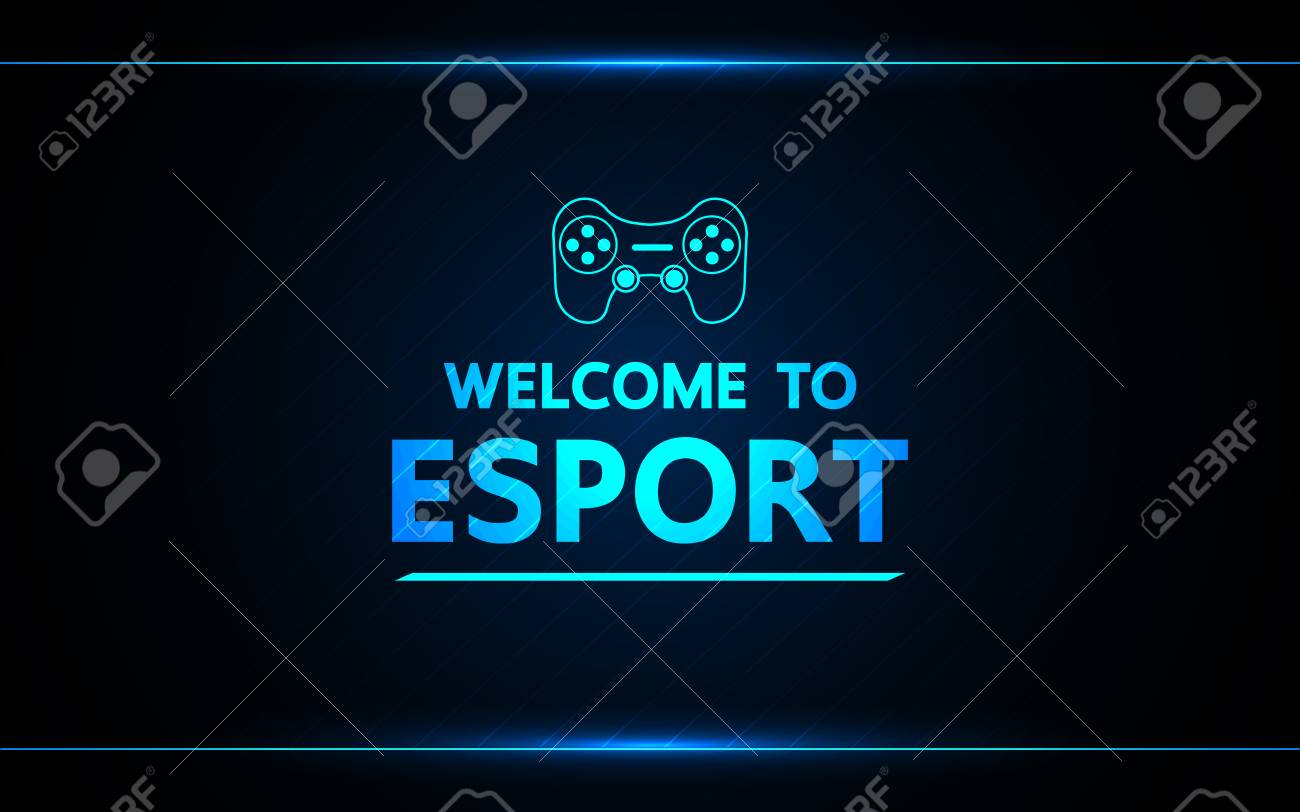 Welcome to e-sport vector abstract technology game design for business future. - 111027350
