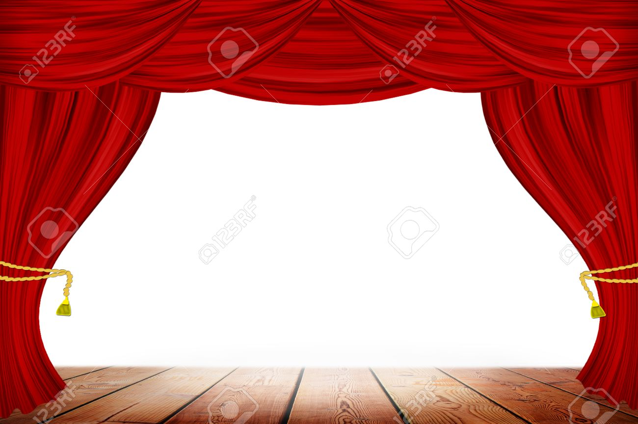 Royalty free or white curtain background drapes royalty free stock - Red Curtains On White Wall Background Stock Photo 39018399