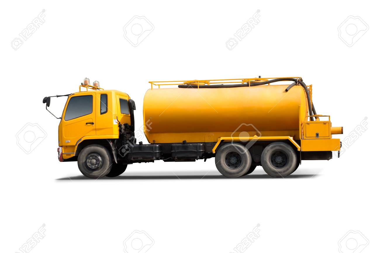 Large tank truck isolated with white background. - 54213127