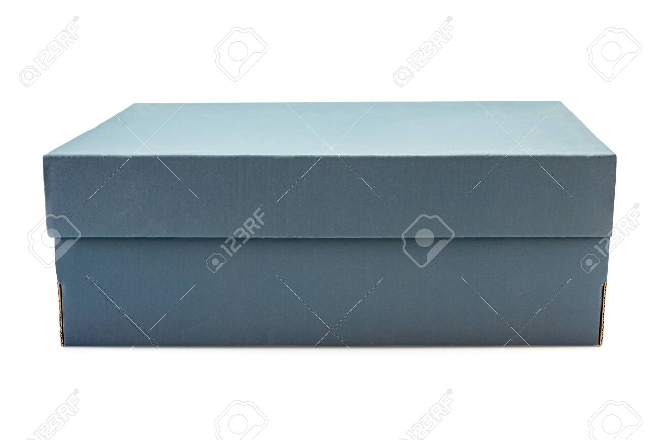 Gray clardboard box isolated on white background in clouding cliping path. - 149190225