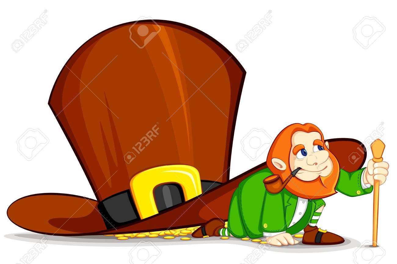 Leprechaun under Hat Stock Vector - 12497368