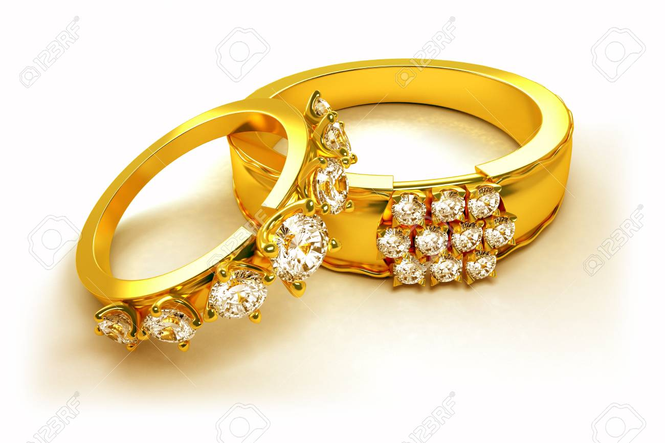 Gold Engagement Ring Stock Photo - 12913928