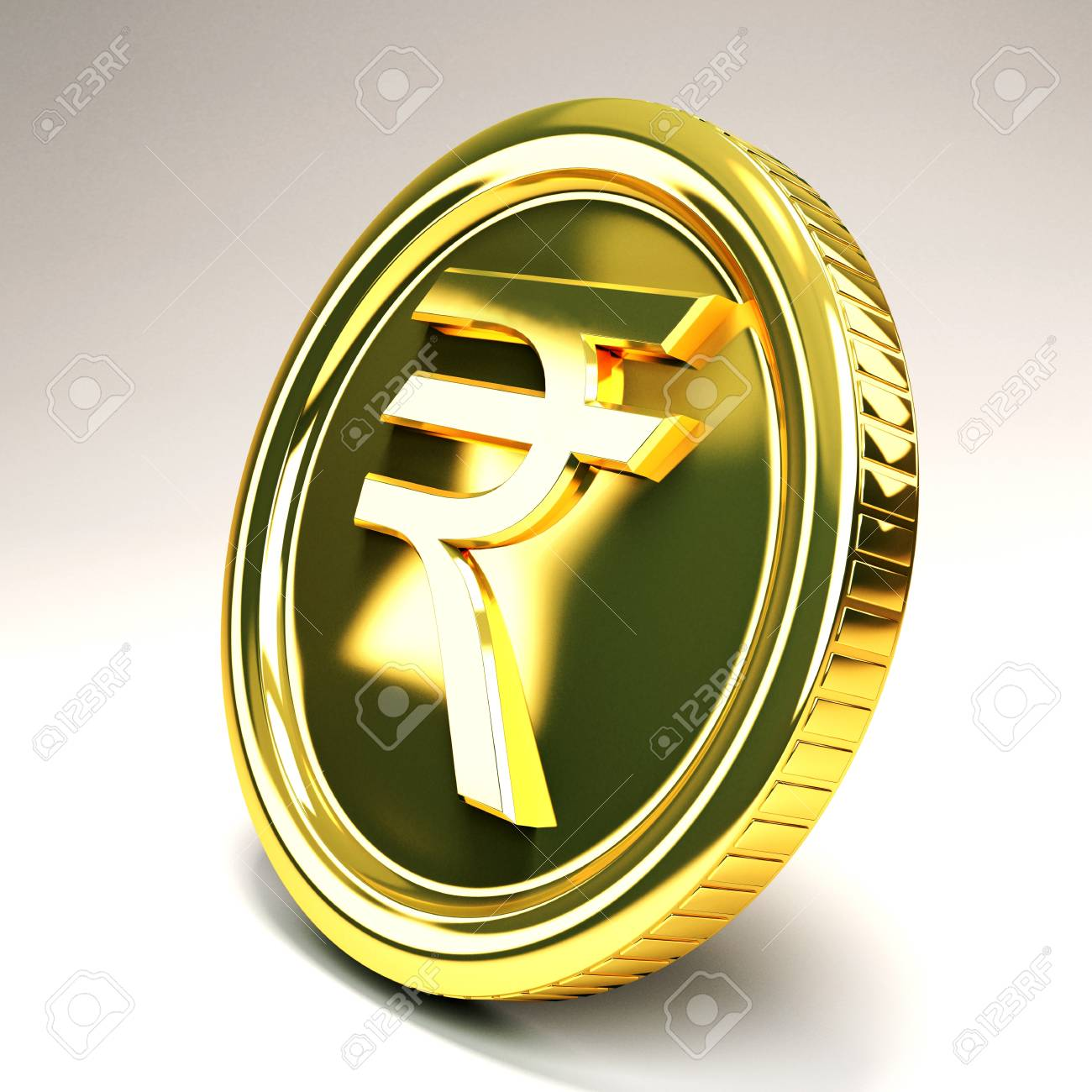 Rupee Gold Coin Stock Photo - 12914161