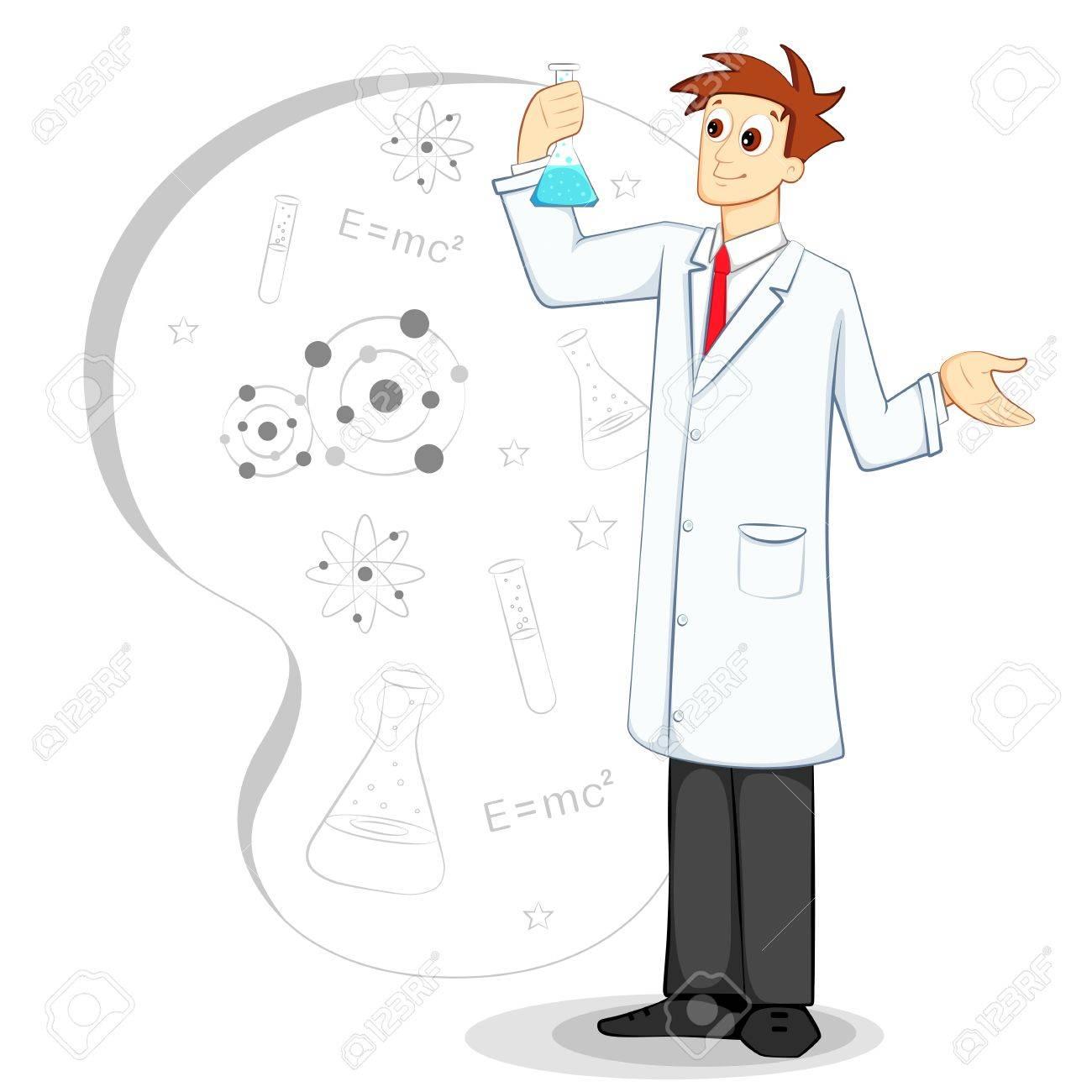 Scientist in Lab Stock Vector - 12914520