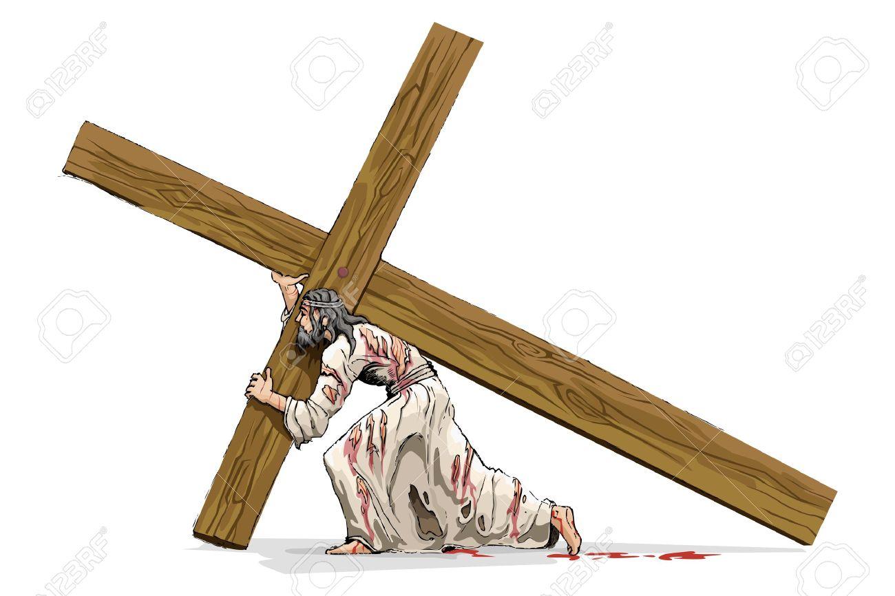Jesus Christ Carrying Cross Stock Vector - 12997554