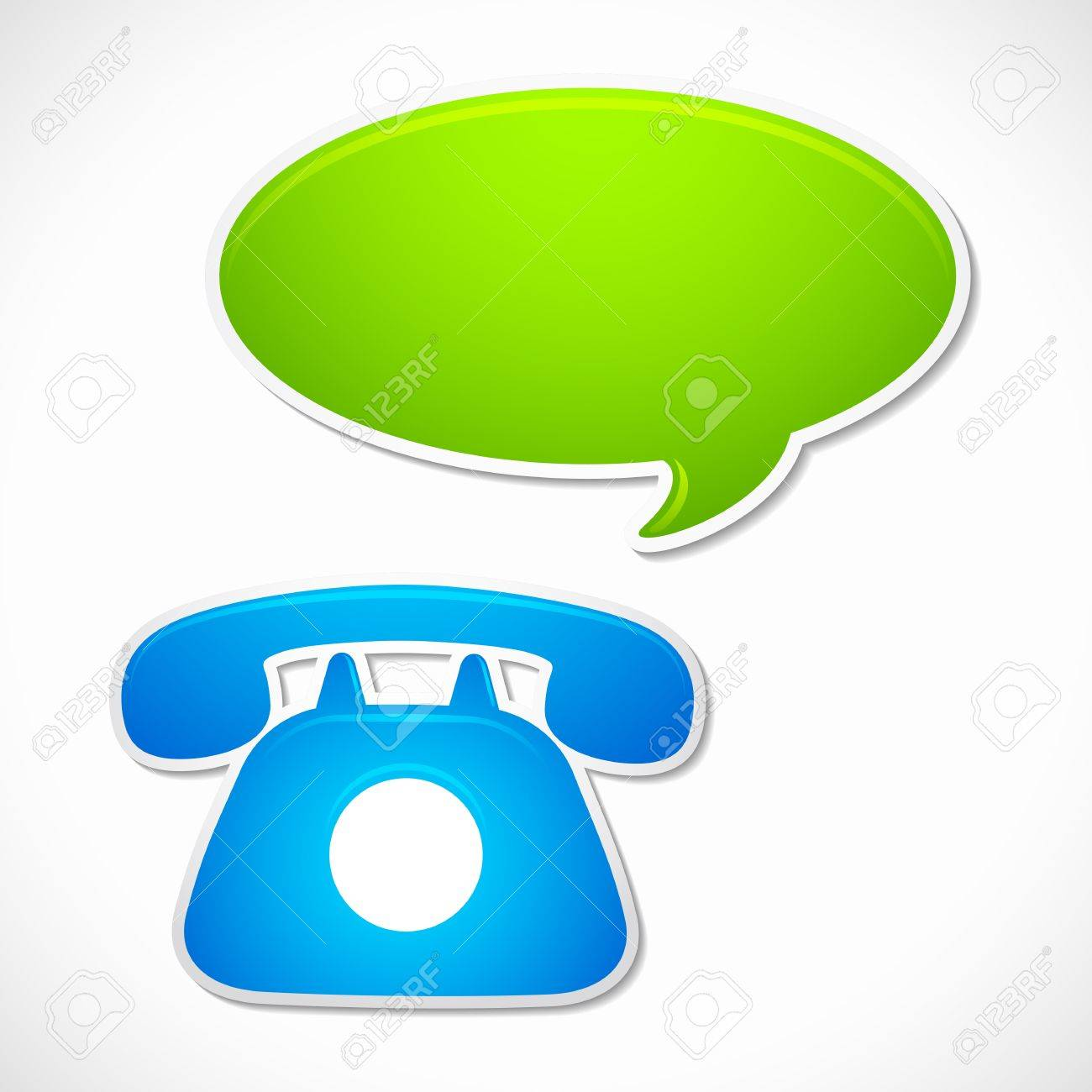 Old Rotary Phone with Chat Bubble Stock Vector - 12997480