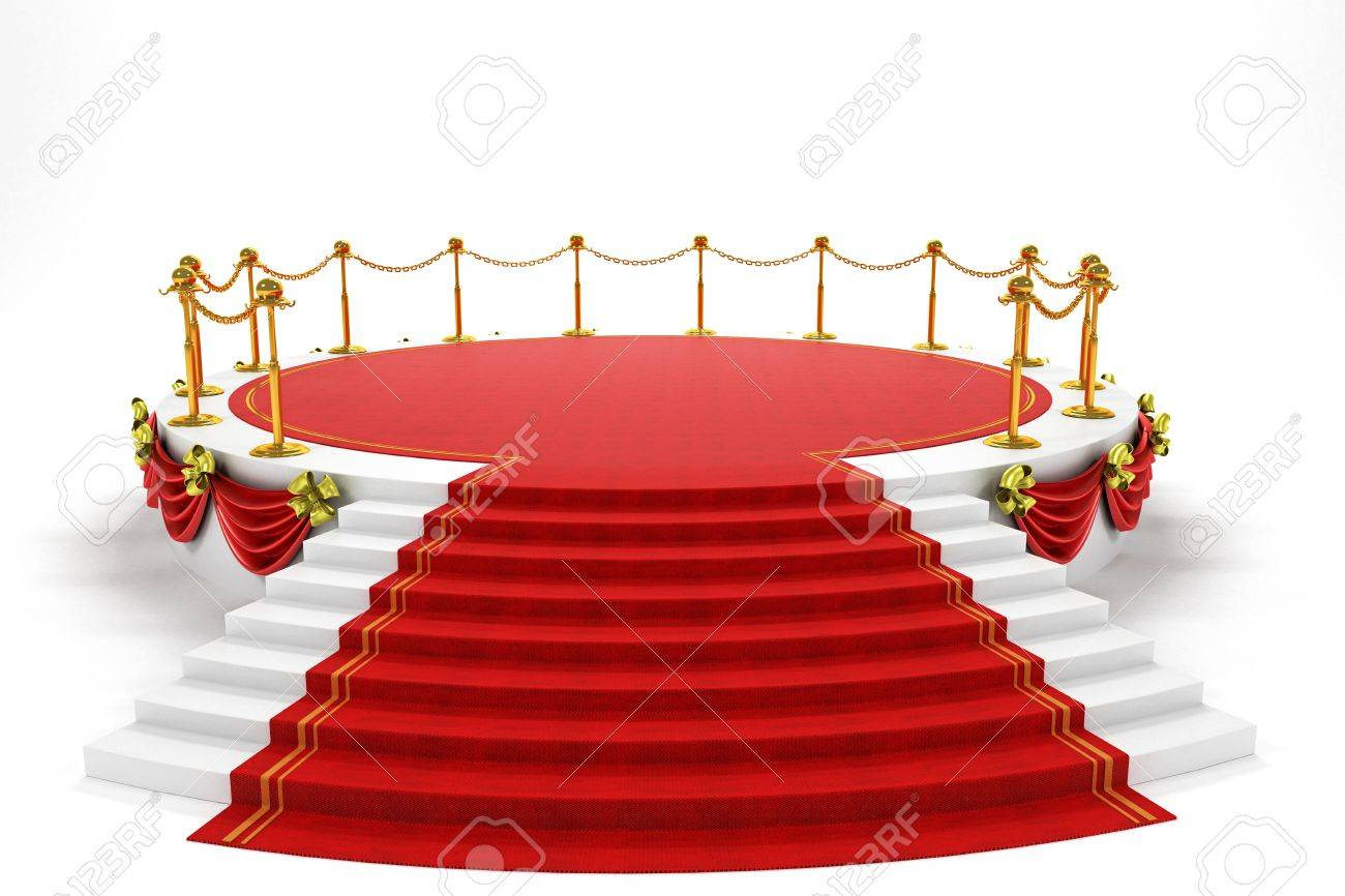 Stage with Rep Carpet Stock Photo - 12999943