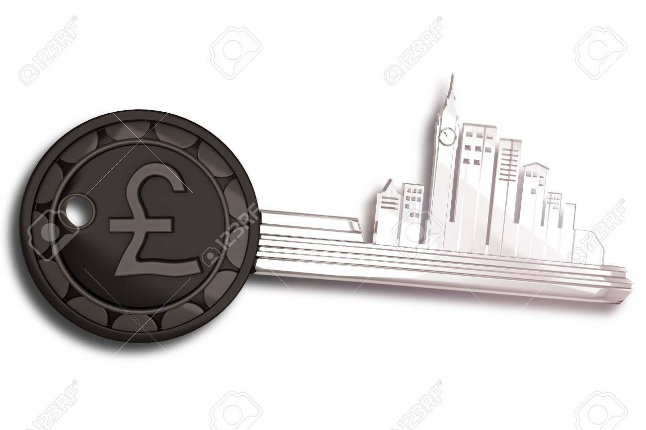 Key Ring with London cityscape Stock Photo - 12997863