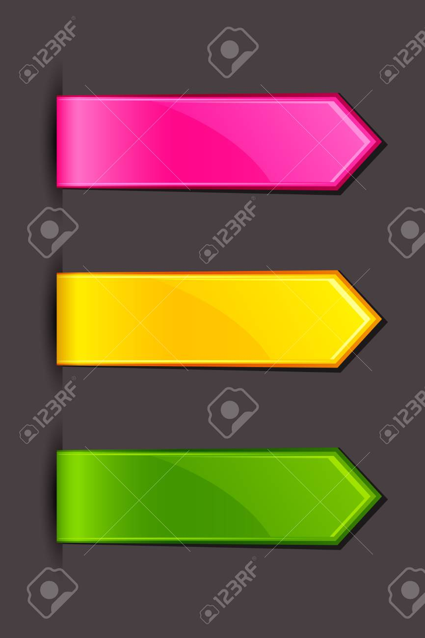 vector illustration of set of colorful label for tag Stock Vector - 13128655