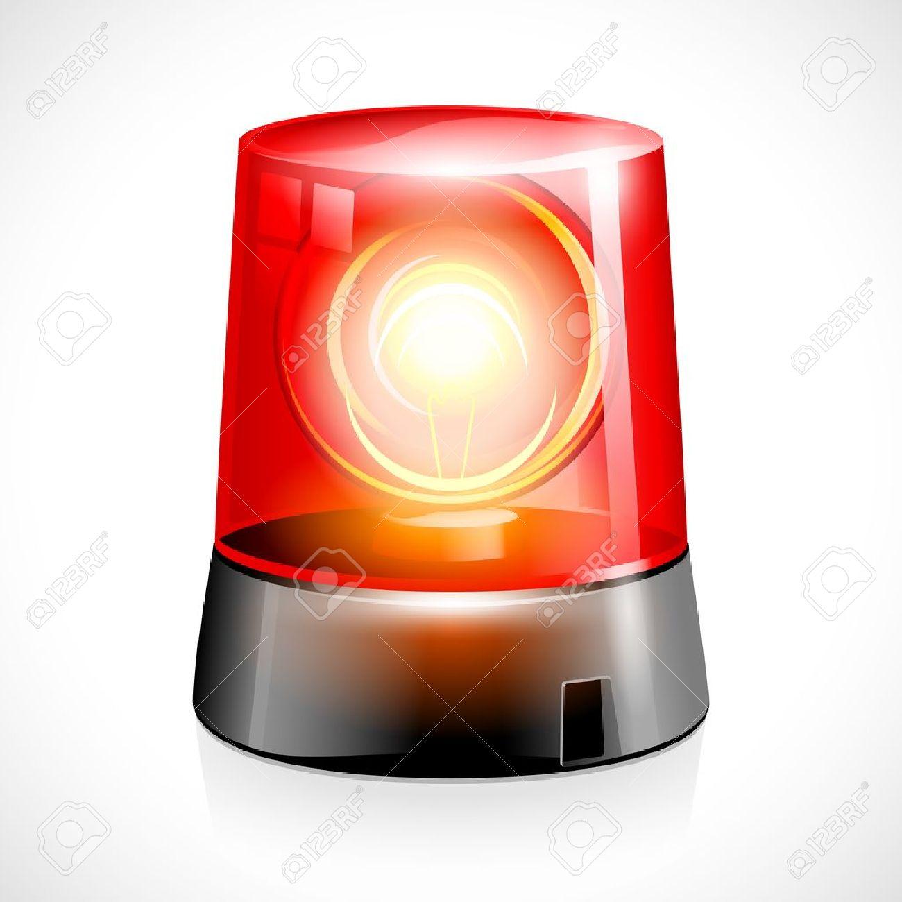 Flashing Red Light >> Vector Illustration Of Red Flashing Emergency Light