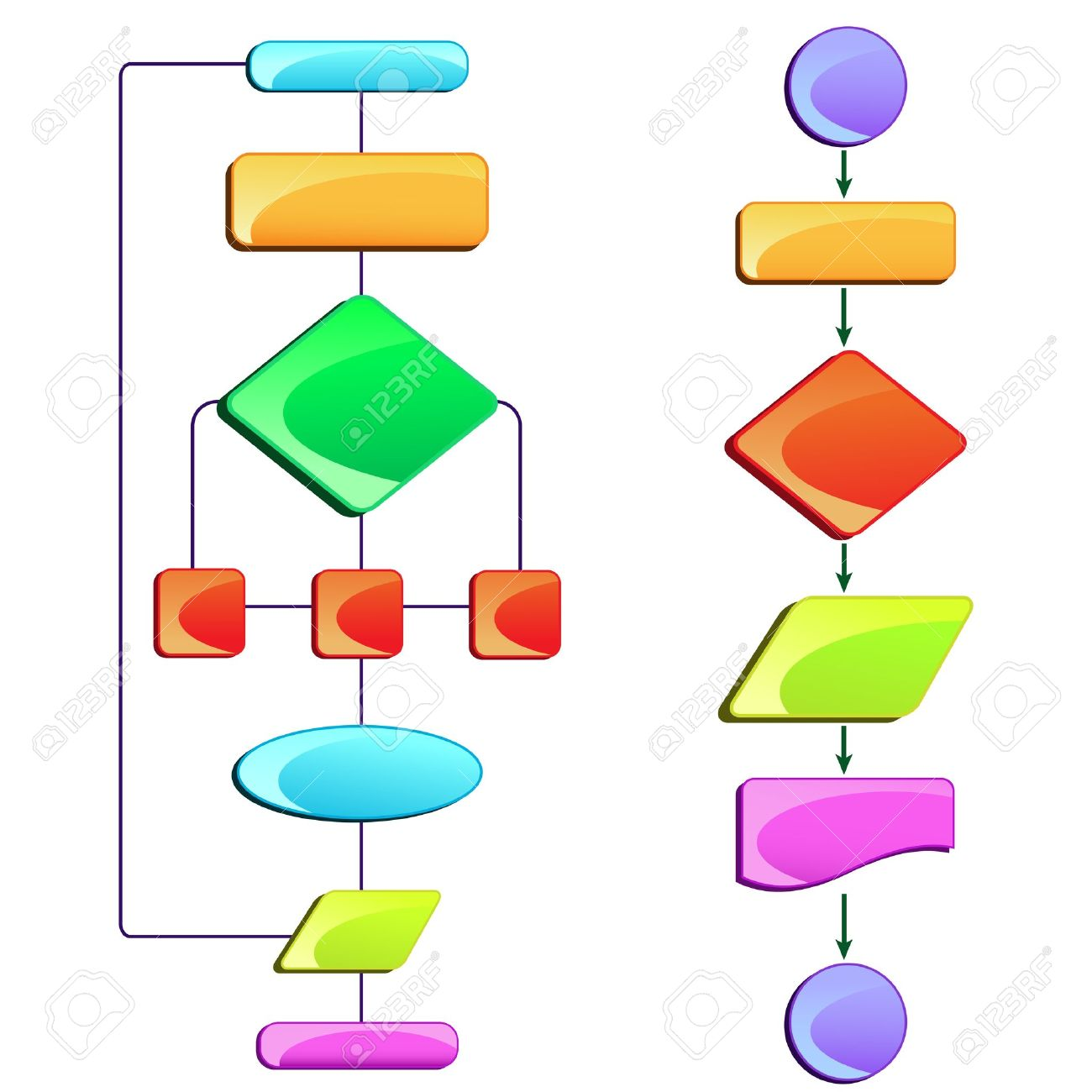 Vector illustration of empty flow chart diagram with colorful vector illustration of empty flow chart diagram with colorful block stock vector 13405657 nvjuhfo Gallery