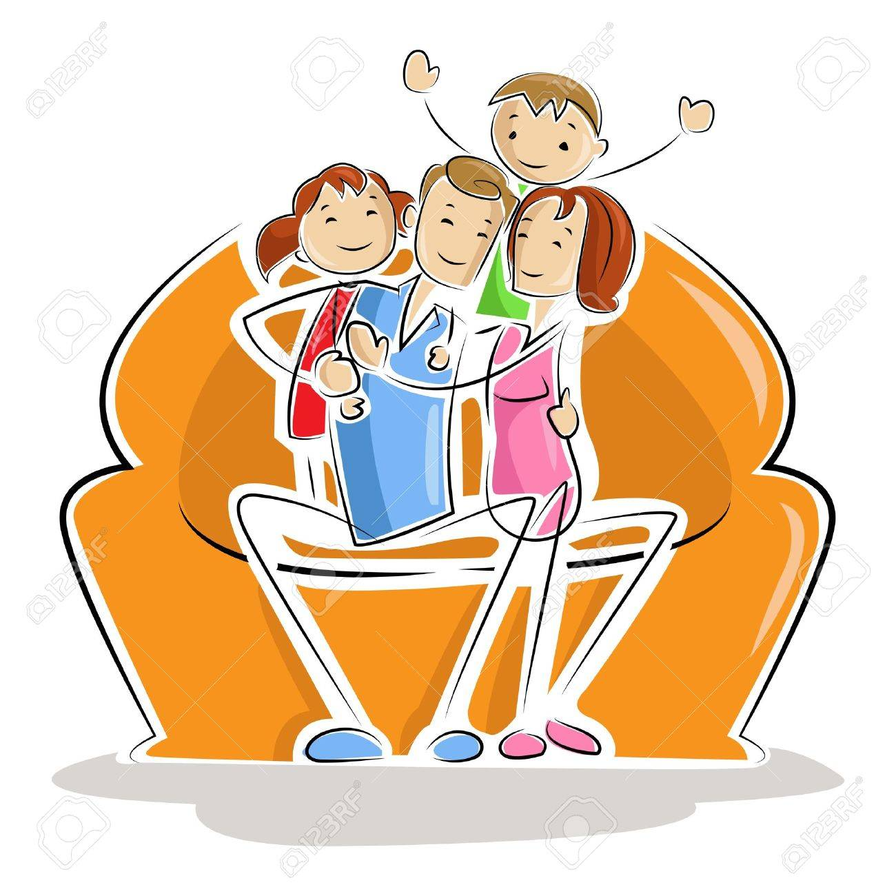 Happy Family Stock Vector - 13646380