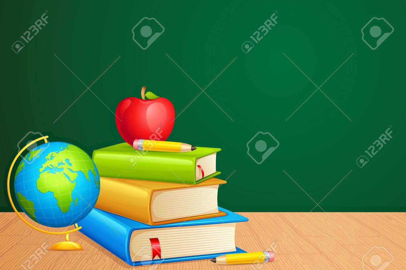 Book with Globe Stock Vector - 13955594