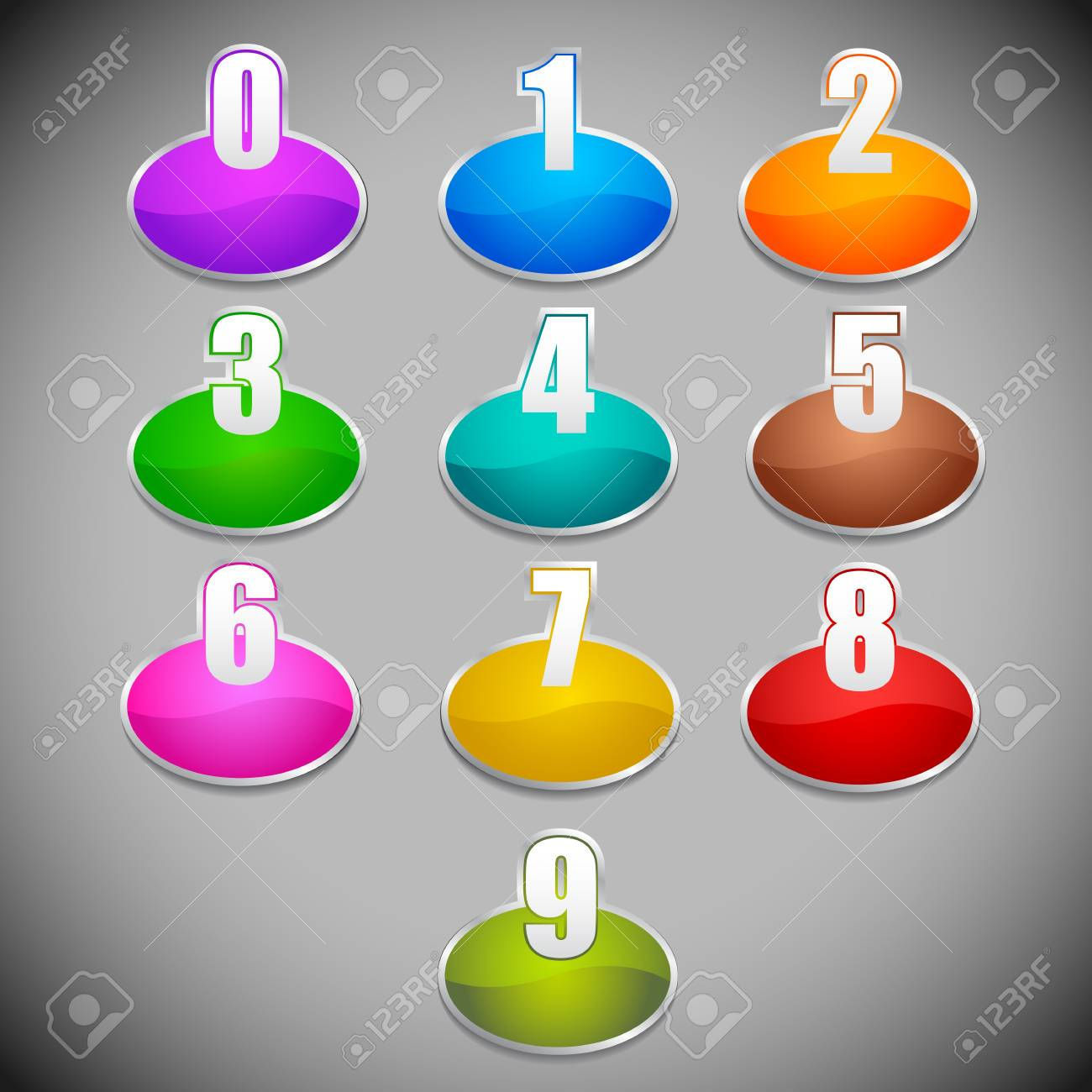 Number Label Stock Vector - 13955583