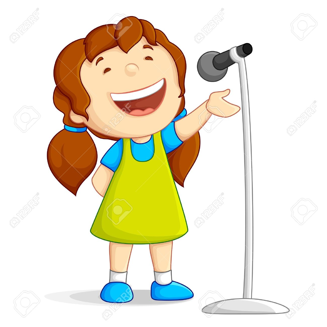 singing girl royalty free cliparts vectors and stock illustration rh 123rf com clip art singing choir clipart singer
