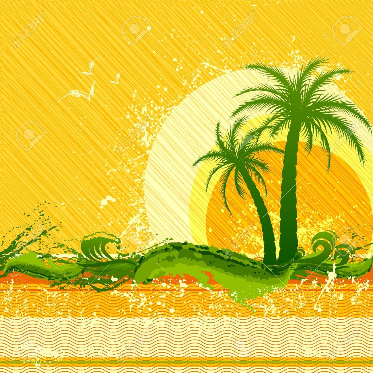 vector illustration of beach party poster with palm tree Stock Vector - 14504681