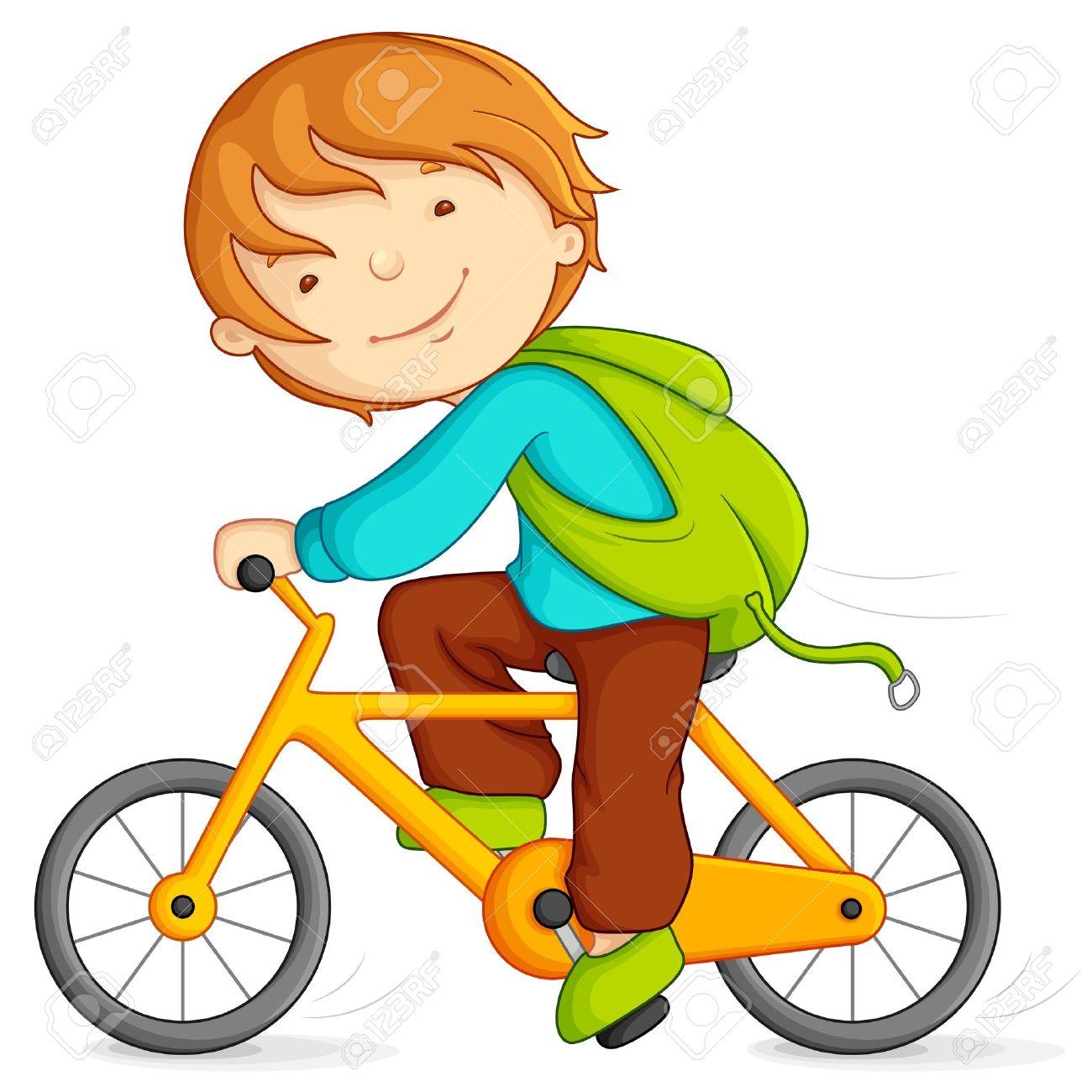 Ребенок на велосипеде рисунок