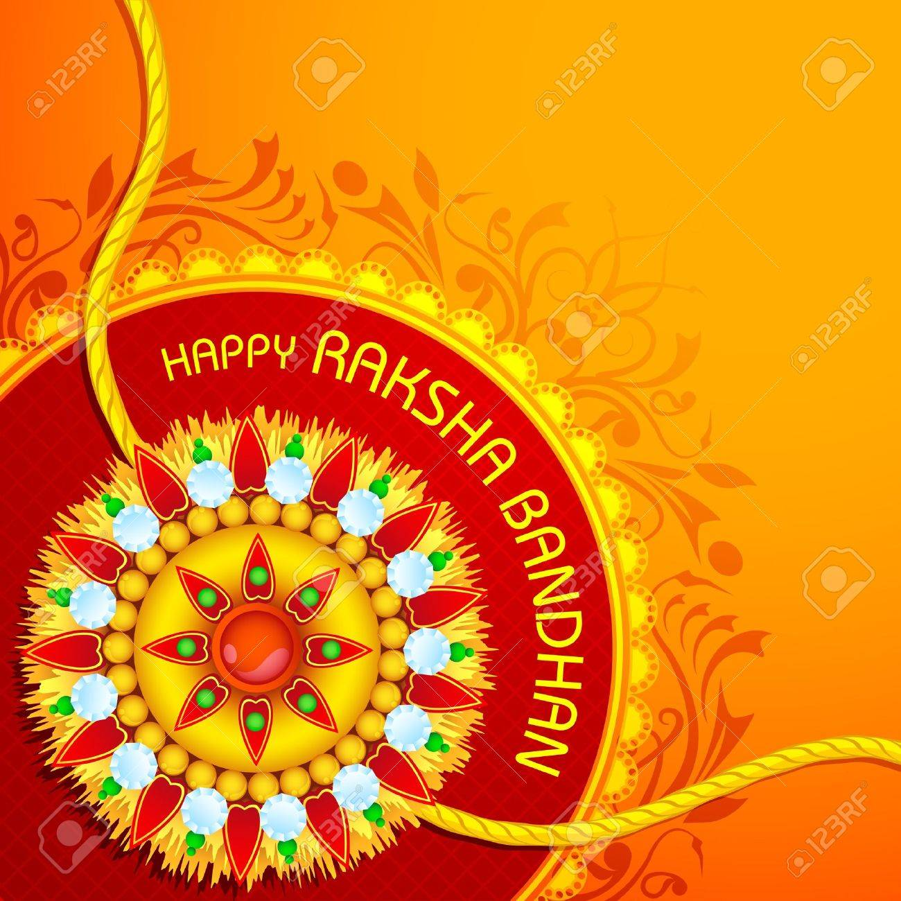 Raksha Bandhan Background Stock Vector - 14504720