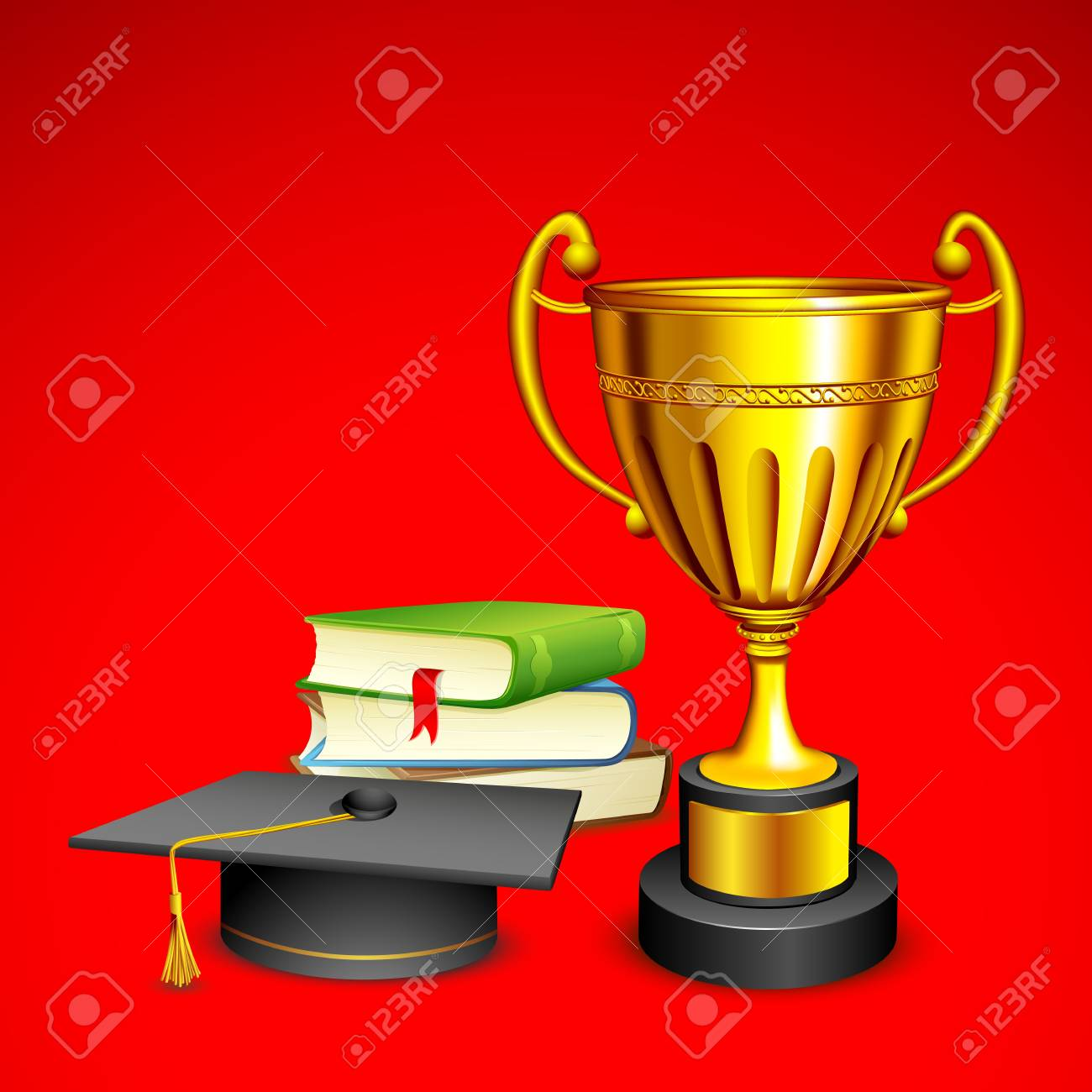 Trophy and Book Stock Photo - 14588963