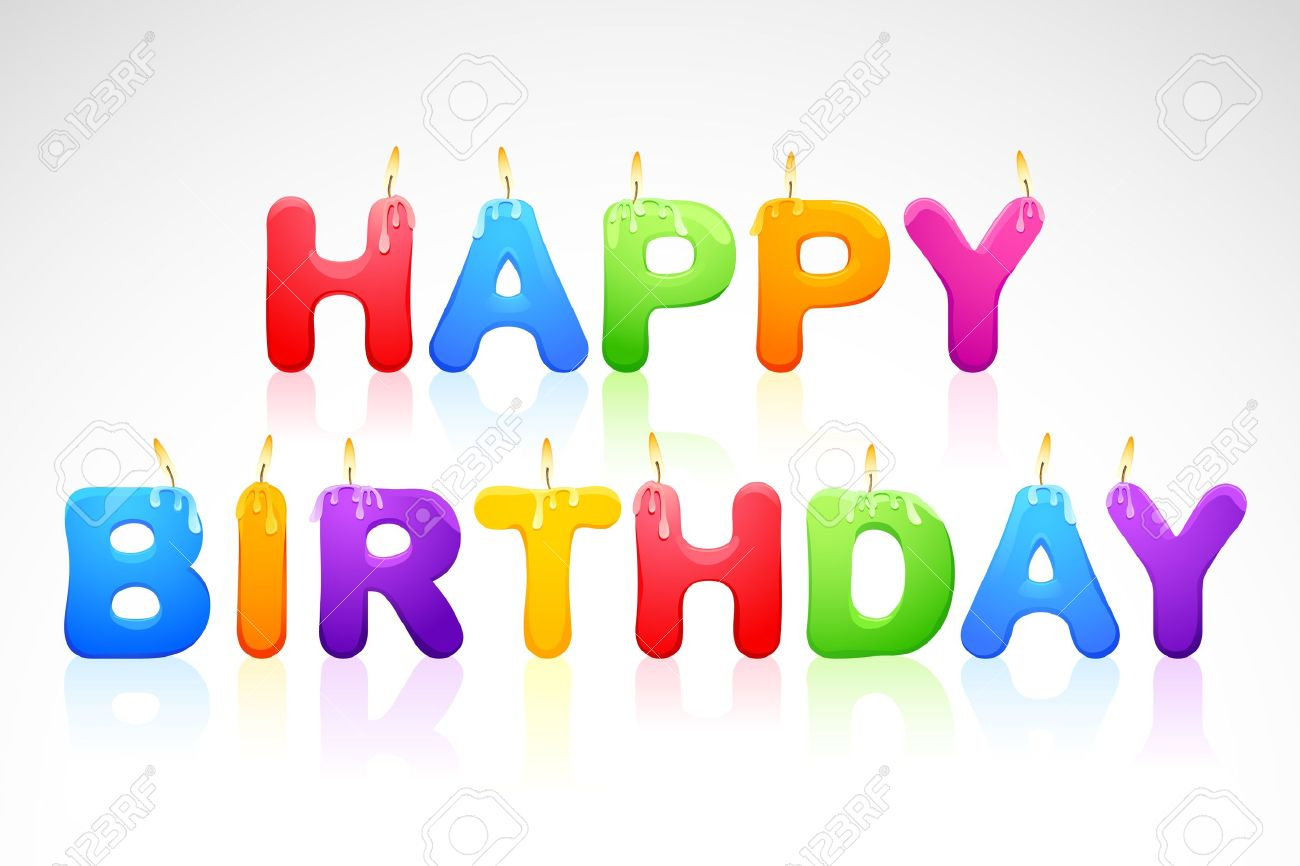 Happy Birthday Candle Royalty Free Cliparts Vectors And Stock