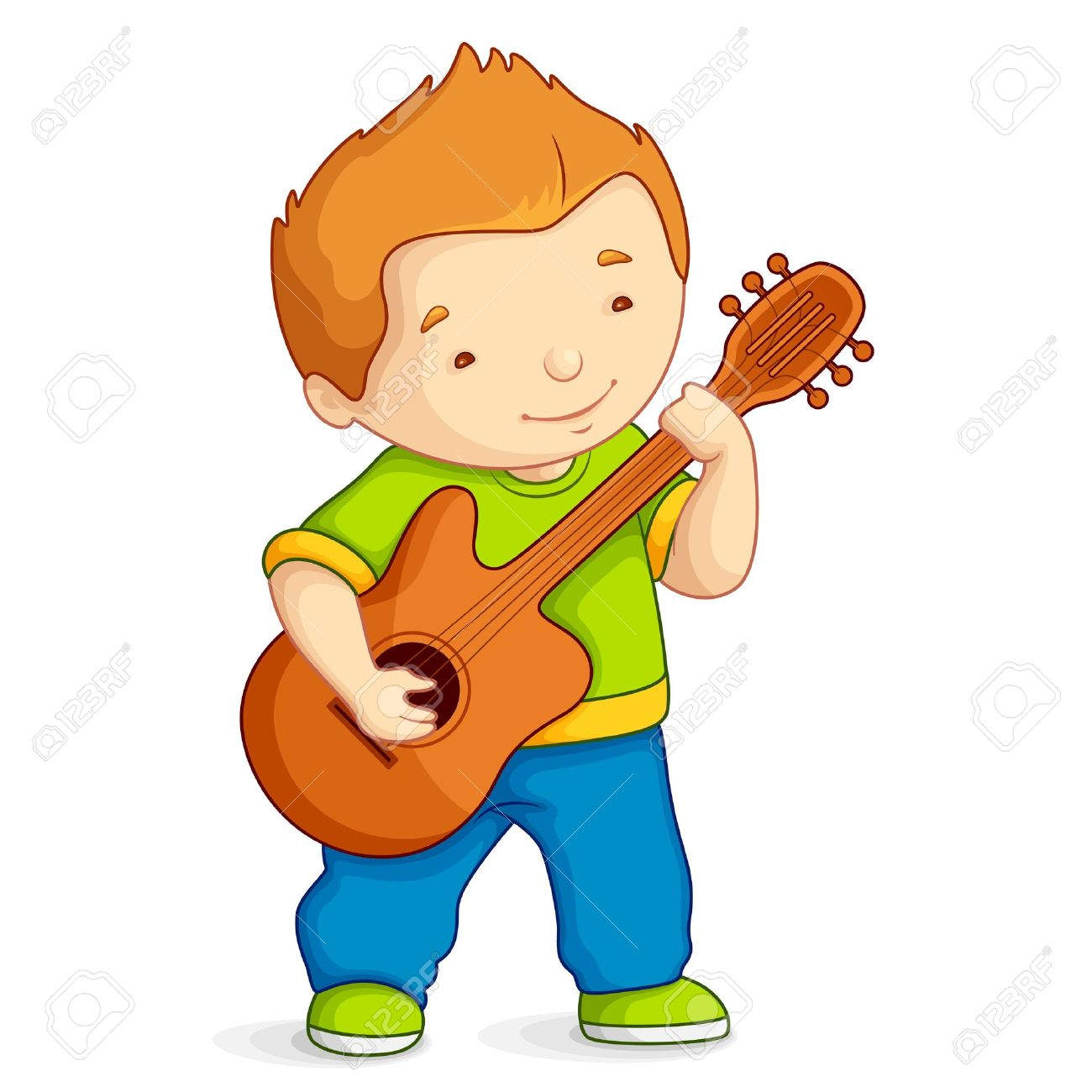 Kid Playing Guitar Royalty Free Cliparts, Vectors, And Stock ...