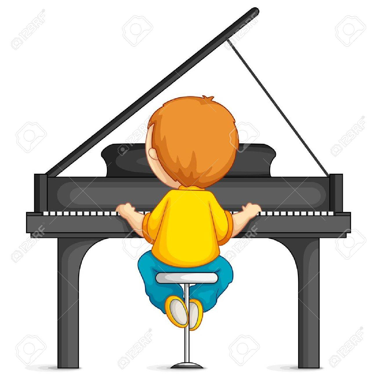 Kid Playing Guitar Clipart