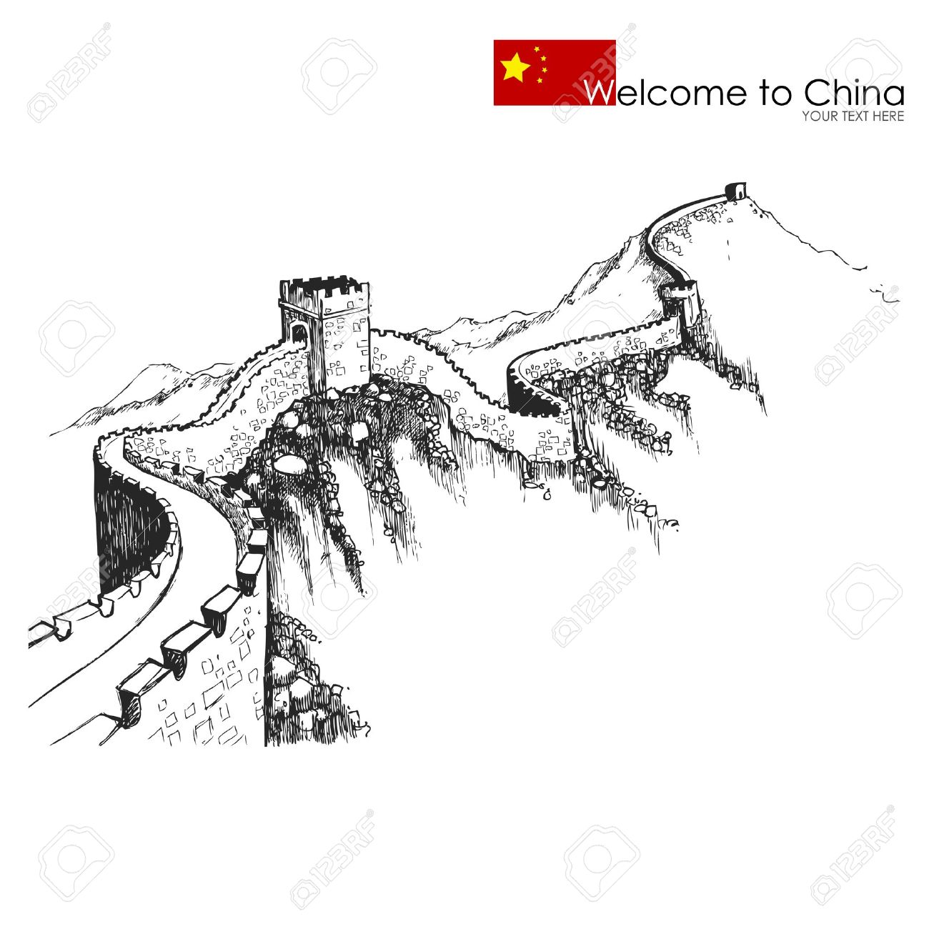 565 great wall of china stock illustrations cliparts and royalty