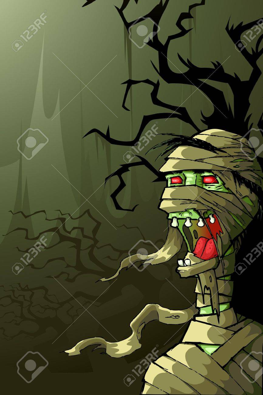 Mummy in Halloween Night Stock Vector - 15470289