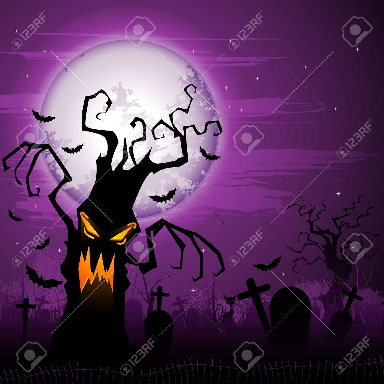 19,923 Halloween Tree Stock Illustrations, Cliparts And Royalty ...