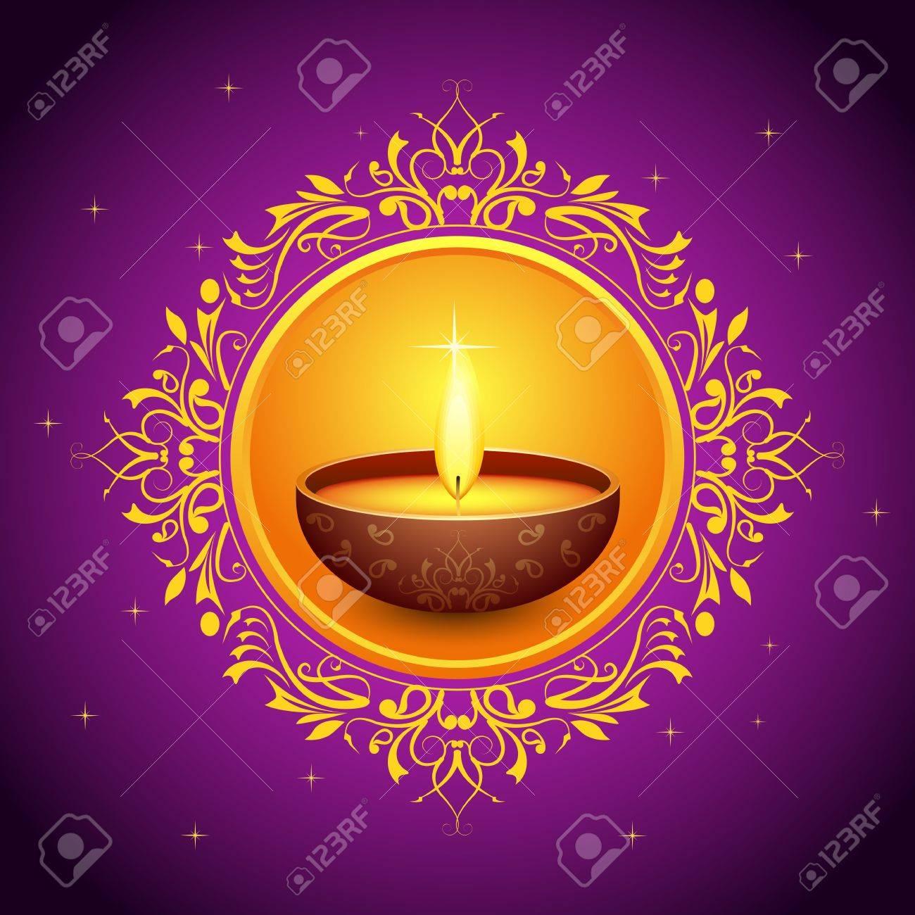 Holy Diya for Festival Stock Vector - 15730338