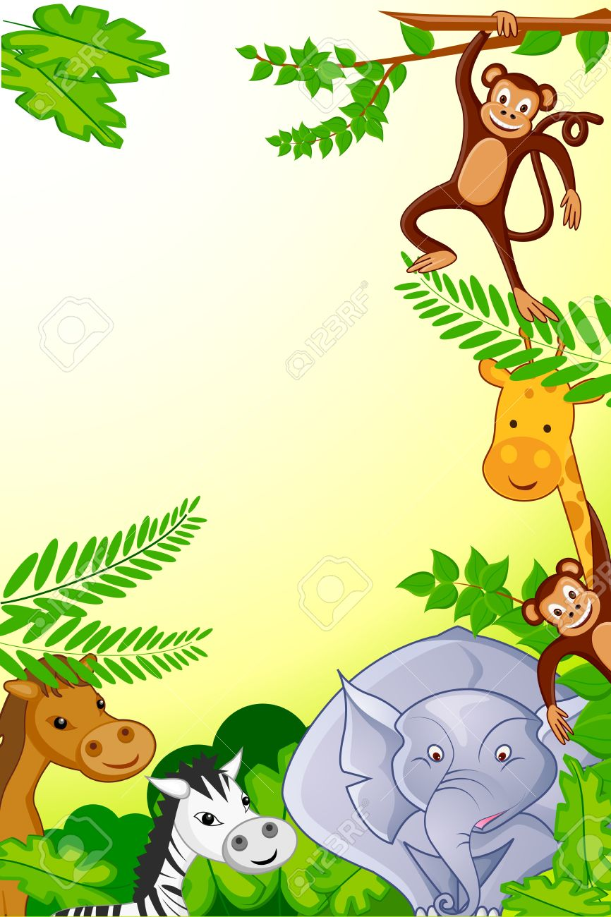 Animals in Jungle Stock Vector - 18181357