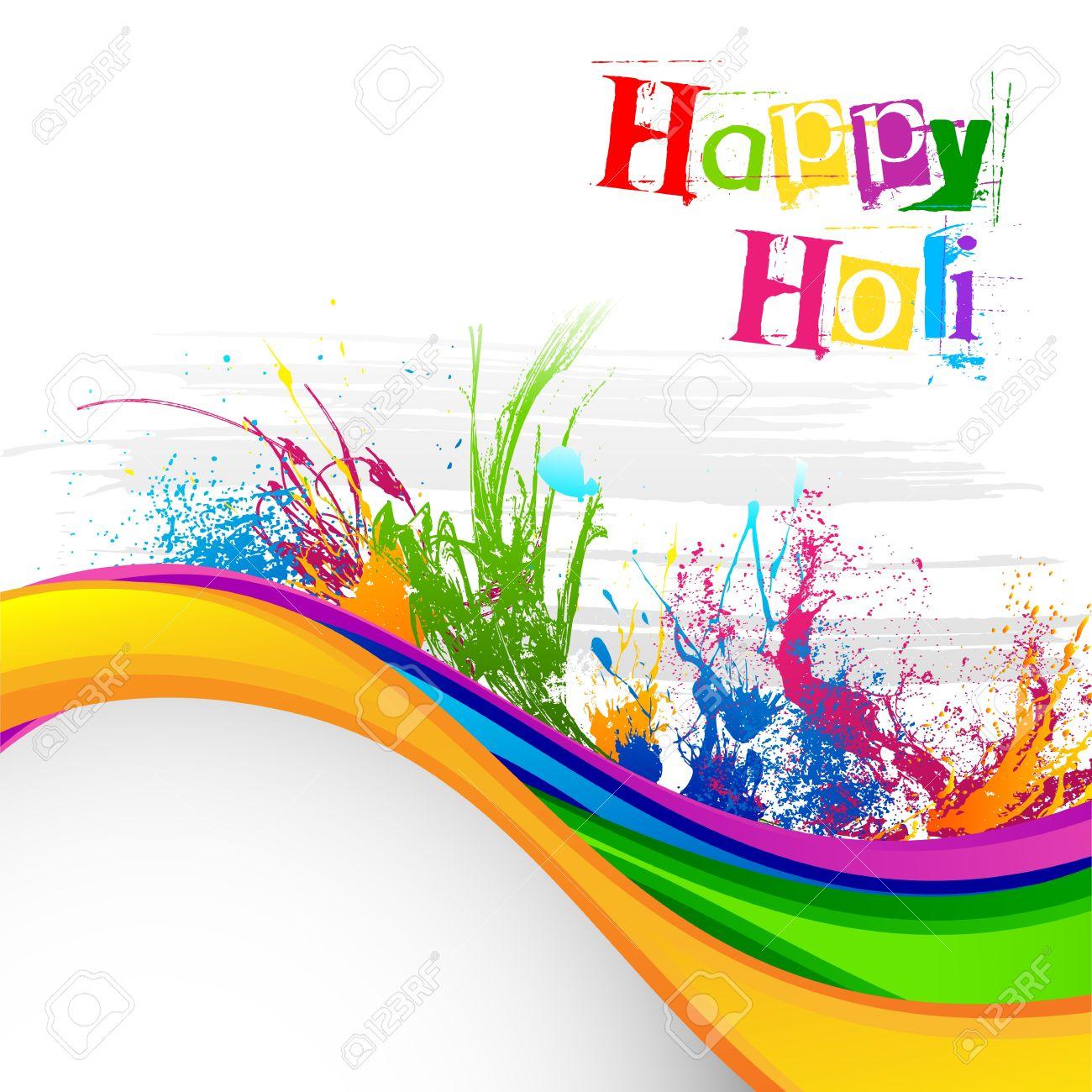Holi Festival Background Design Stock Vector - 18290711