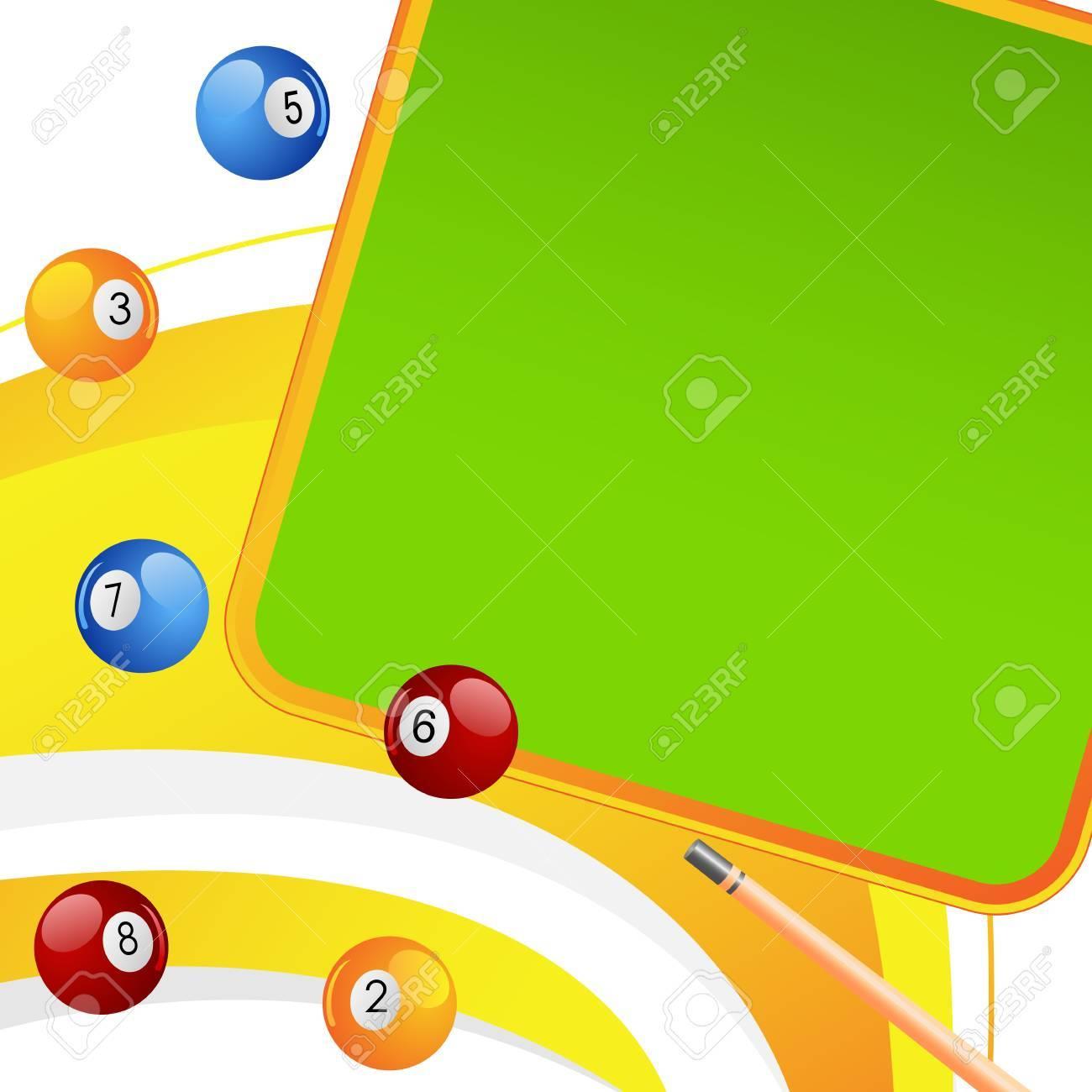 Colorful Snooker Ball Stock Vector - 18414105