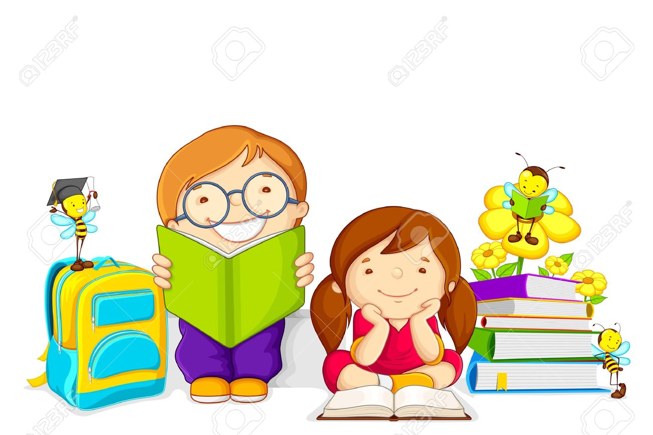 kids studying royalty free cliparts vectors and stock illustration