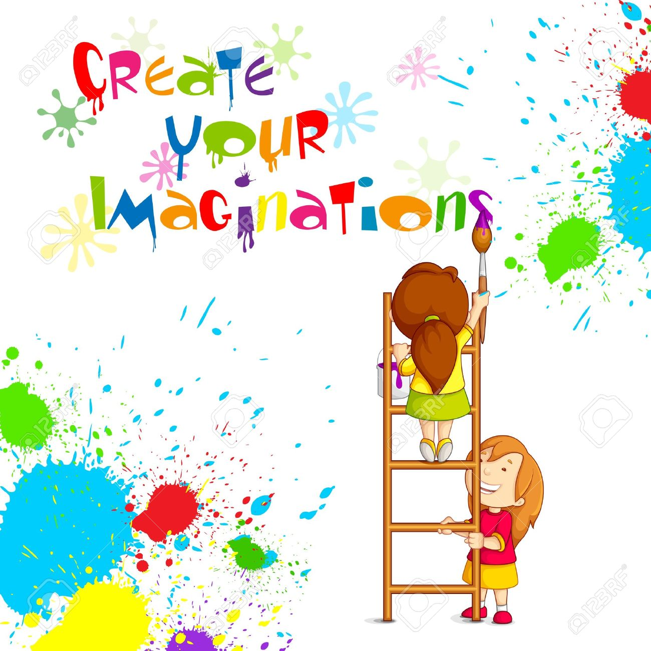 Kids Painting Competition Poster Royalty Free Cliparts, Vectors, And ...