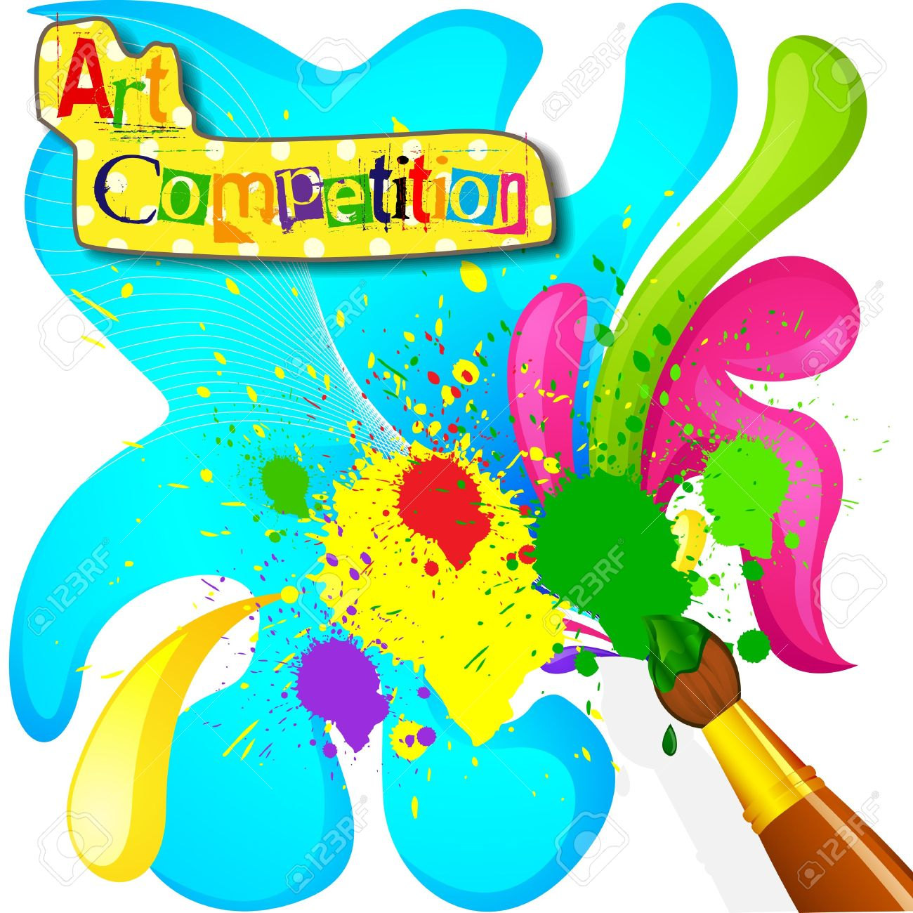 Art And Painting Competition Poster Royalty Free Cliparts Vectors And Stock Illustration Image 18810668
