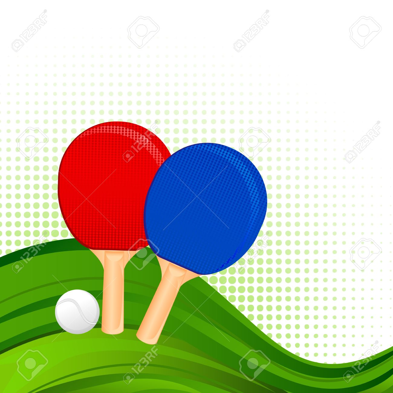 Ping-Pong Rackets and Ball Stock Vector - 18810800