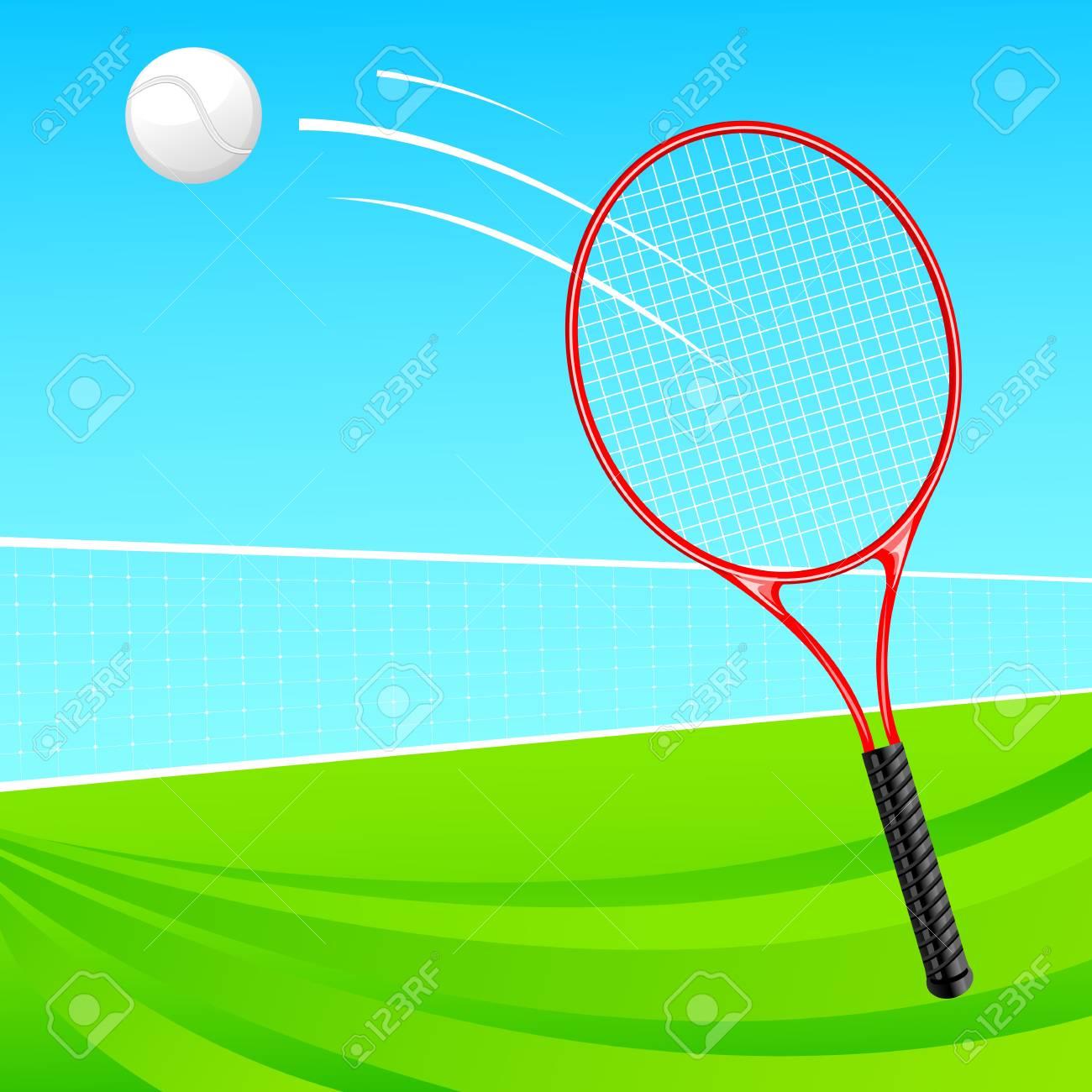 Tennis Racket and Ball Stock Vector - 18810763