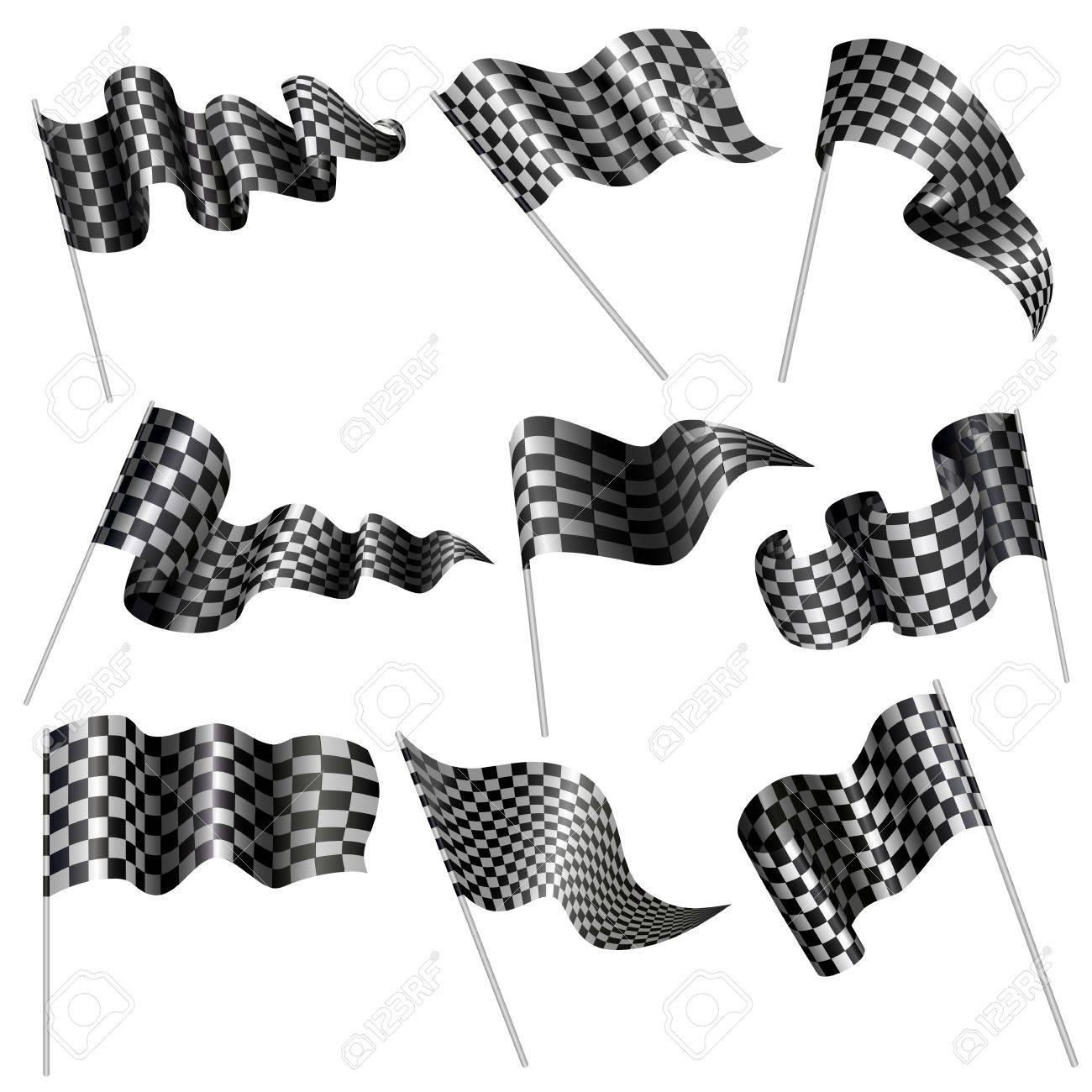 Checkered Flag Stock Vector - 18810801