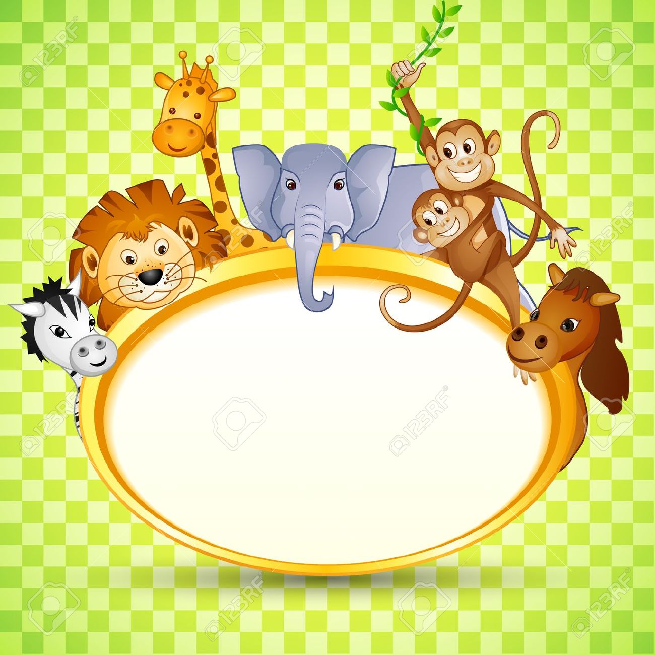 Animal in Baby Shower Invitation Stock Photo - 19259002
