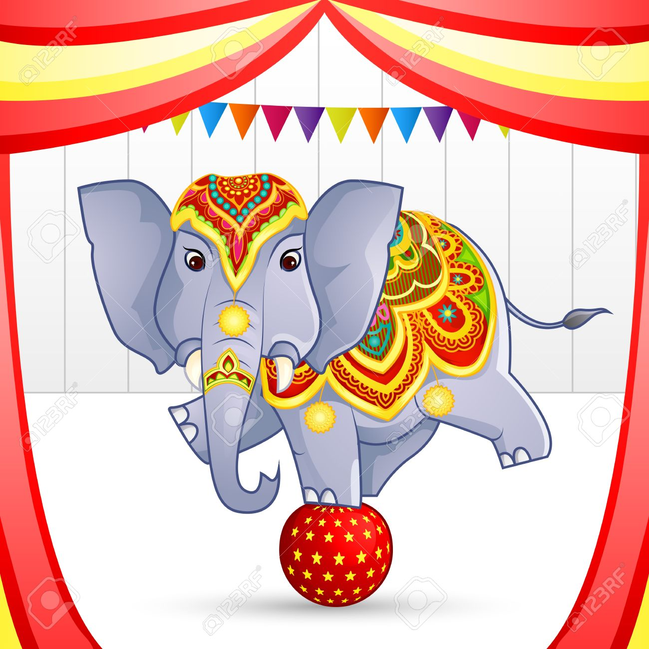 Elephant in Circus Stock Photo - 19259021