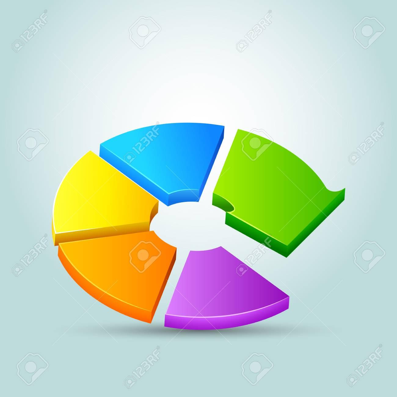 vector illustration of arrow shape business pie chart Stock Vector - 19504153